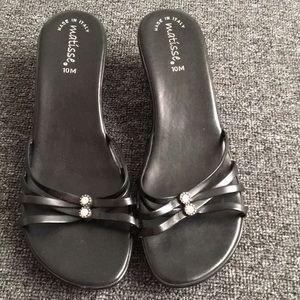 💗MATISSE Black Jeweled Dress Heels - Size: 10 M💗